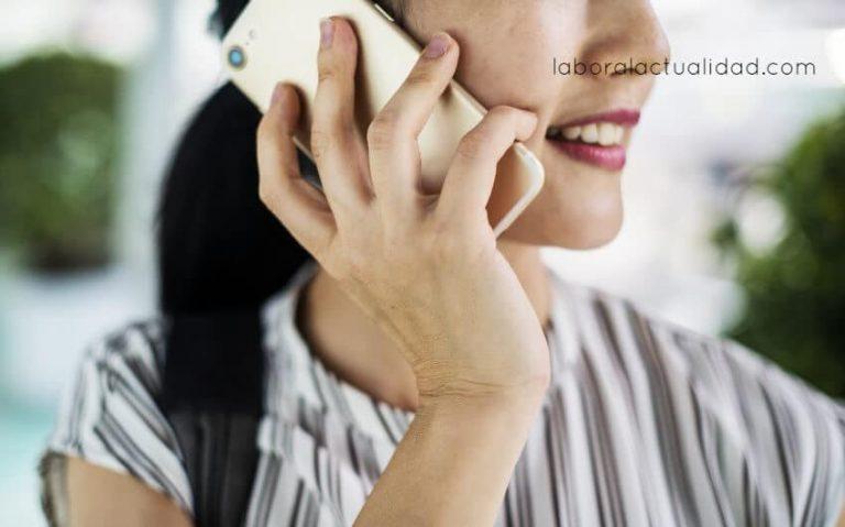 Vida laboral llamando por teléfono