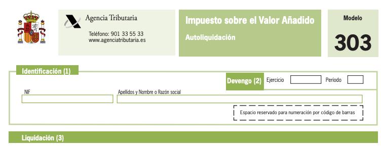 Como cumplimentar el Modelo 303 para la declaracion trimestral del IVA